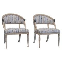 Pair of Swedish Empire Chairs, circa 1800