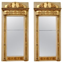 Pair of Swedish Empire Mirrors by P.G. Bylander, circa 1820