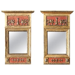 Pair of Swedish Empire Mirrors