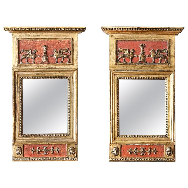 Pair of Swedish Empire Mirrors For Sale