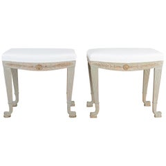 Pair of Swedish Empire Stools