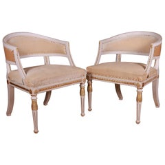 Pair of Swedish Empire Style Armchairs