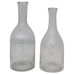 Pair of Swedish Glass Decanters, circa 1880