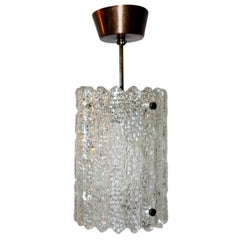 Pair of Swedish Glass Fixtures, Sold Individually