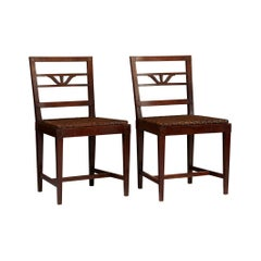 Pair of Swedish Grace Chairs by Carl Malmsten, Sweden, 1920s