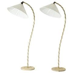 Pair of Swedish Grace Floor Lamps. Sweden, 1920s