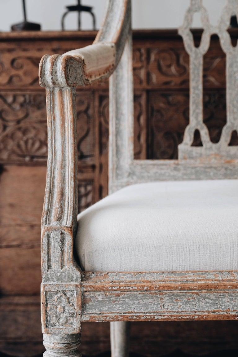 Pair of Swedish Gustavian Armchairs 1