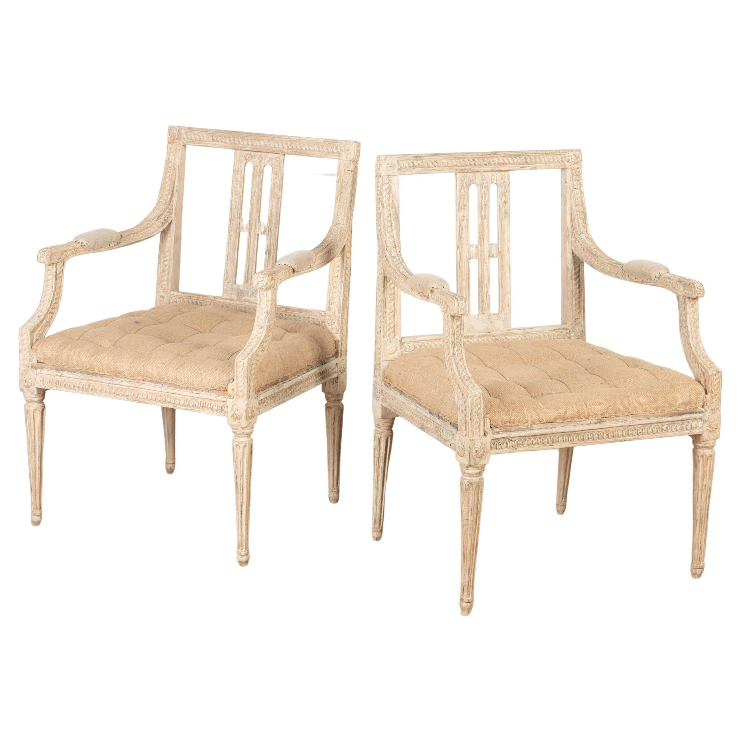 Pair of Swedish Gustavian Armchairs