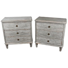 Pair of Swedish Gustavian Chests
