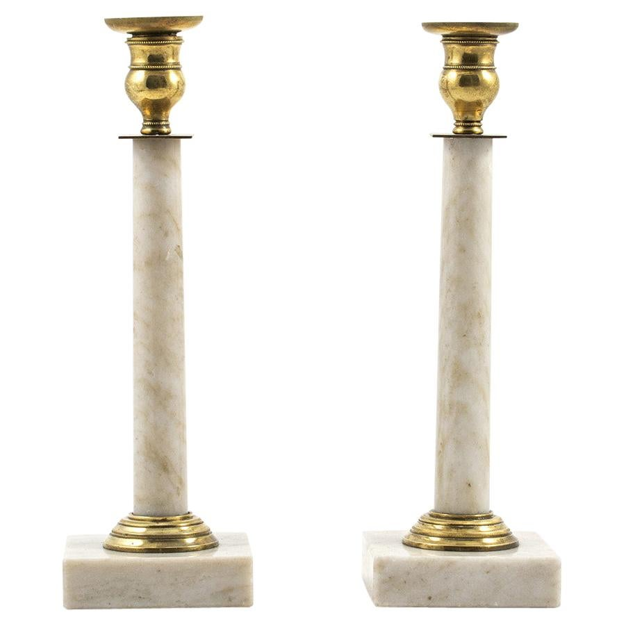 Gustavian Candle Holders