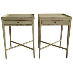 Pair of Swedish Gustavian Side Tables