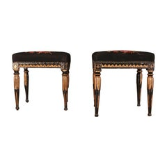 Pair of Swedish Gustavian Stools