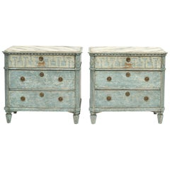 Pair of Swedish Gustavian Style Chest of Drawers