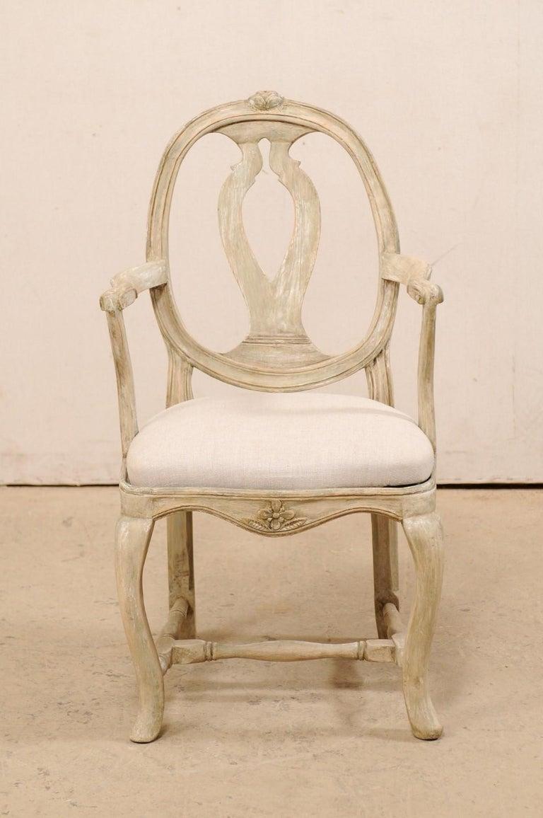 Upholstery Pair of Swedish Gustavian