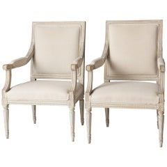 Pair of Swedish Late Gustavian Period Stockholm Armchairs, circa 1800