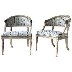 Pair of Swedish Lion Head Chairs, circa 1800