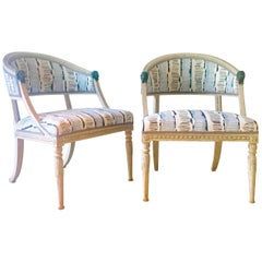 Pair of Swedish Lion Head Chairs, circa 1800