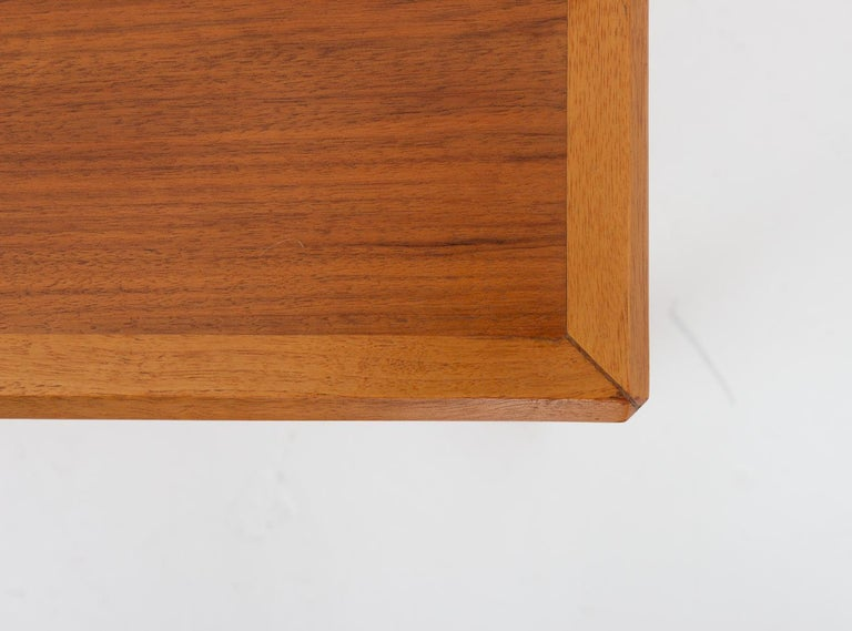 Pair of Swedish Midcentury Side Tables in Walnut by Bertil Fridhagen For Sale 3