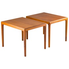 Pair of Swedish Midcentury Side Tables in Walnut by Bertil Fridhagen