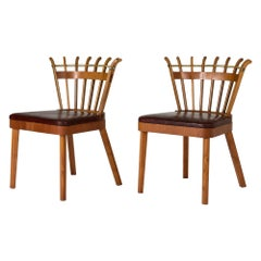 Pair of Swedish Modern Occasional Chairs, Sweden, 1946
