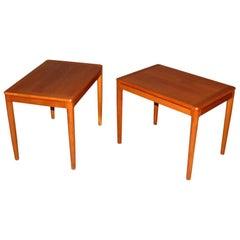 Pair of Swedish Modern Teak End Tables