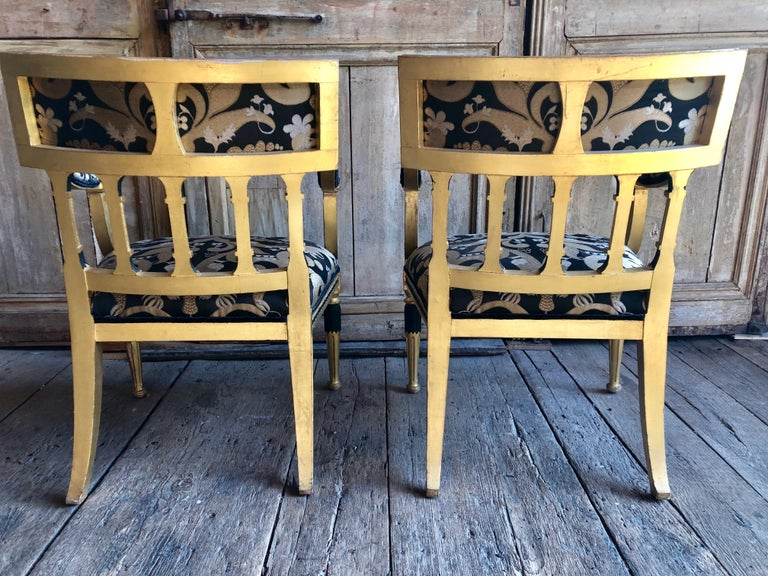 Pair of Swedish Neoclassical Armchairs For Sale 8