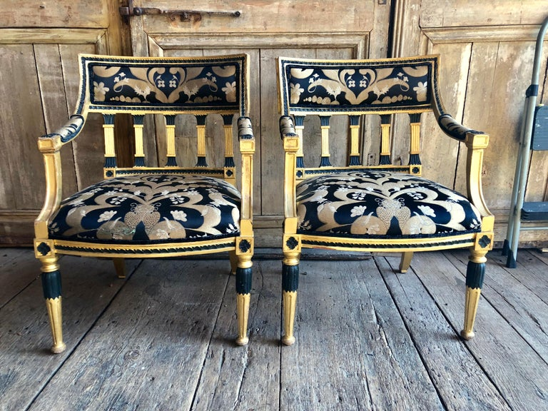 Pair of Swedish Neoclassical Armchairs In Good Condition For Sale In Doylestown, PA