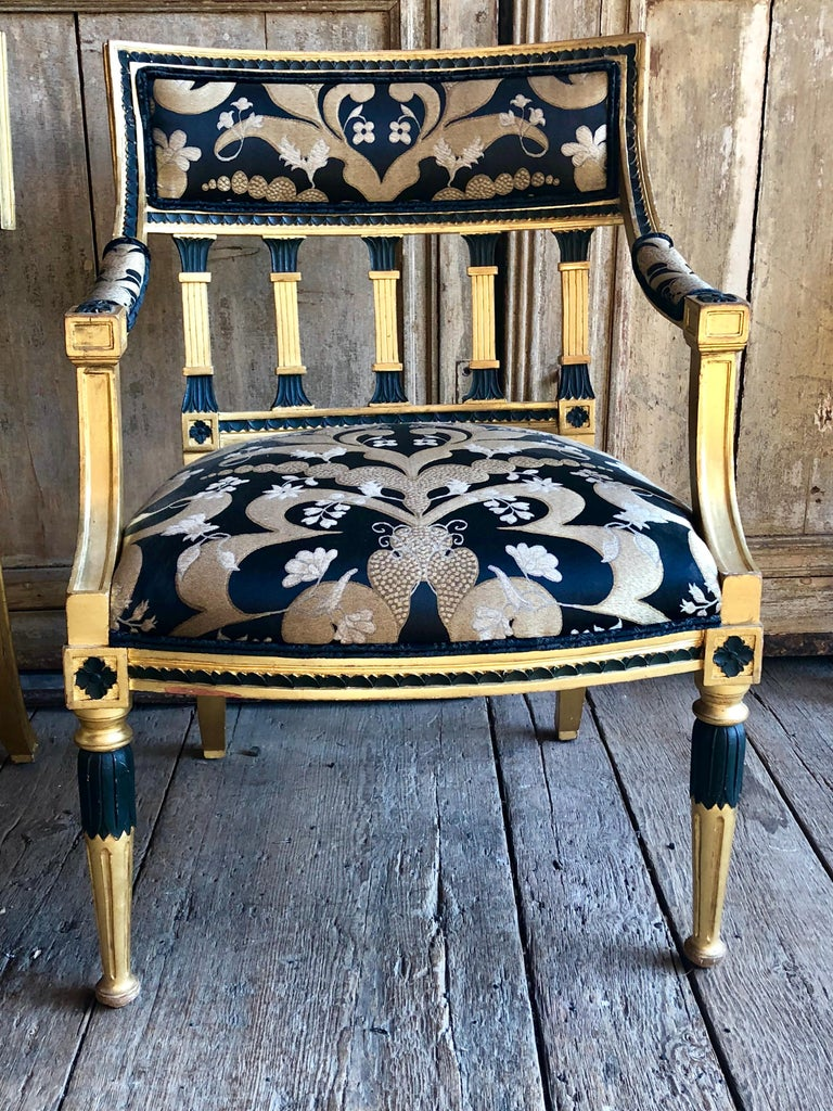 19th Century Pair of Swedish Neoclassical Armchairs For Sale