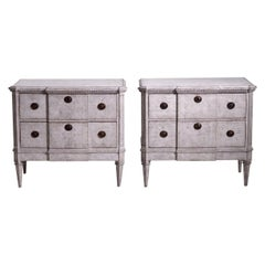 Pair of Swedish Neoclassical Chests