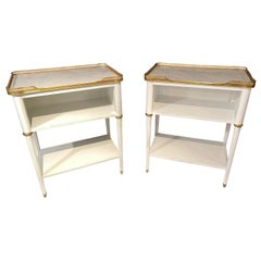 Pair of Swedish Neoclassical Open Nightstands or End Tables Manner Jansen