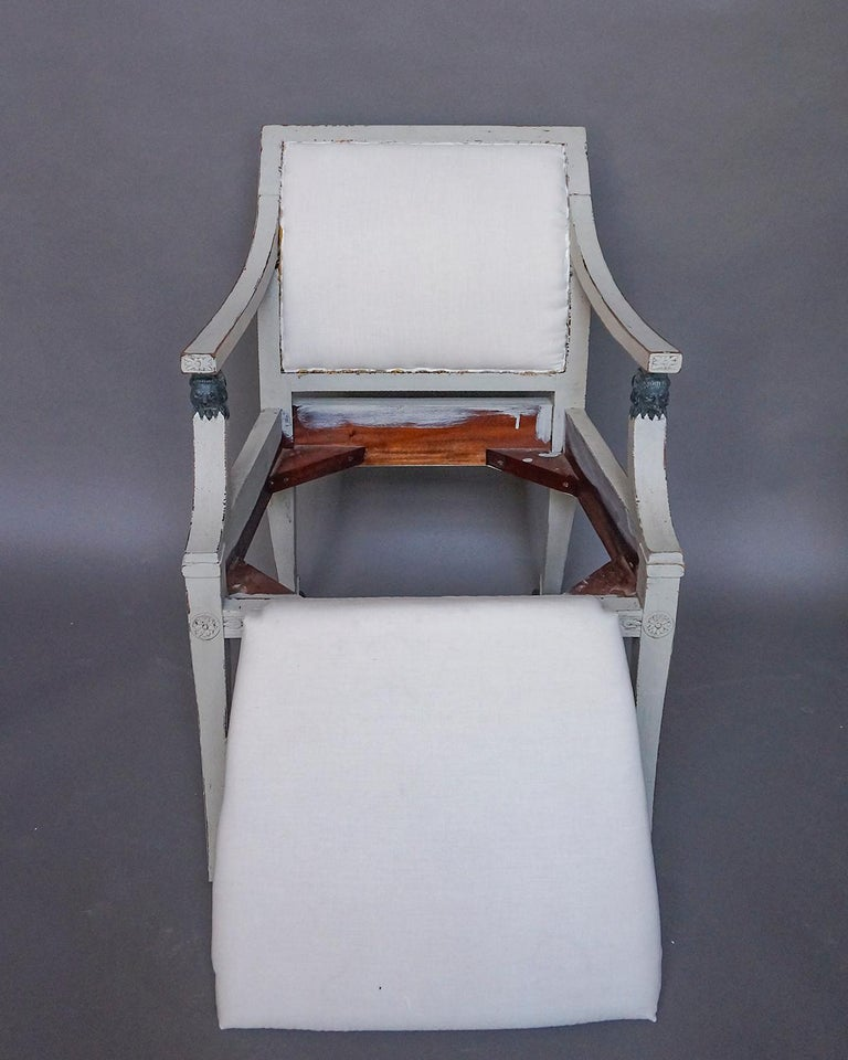 Pair of Swedish Neoclassical Style Armchairs with Lion Detail For Sale 5