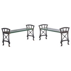 Pair of Swedish Outdoor Benches by Folke Bensow, 1920s