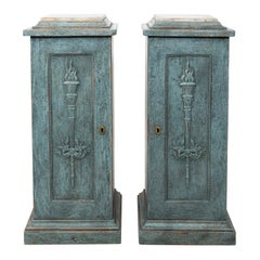 Pair of Swedish Pedestal Cabinets