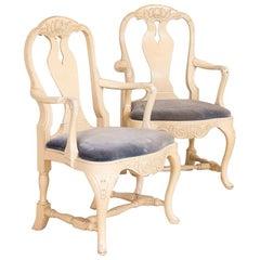 Pair of Swedish Rococo Armchairs