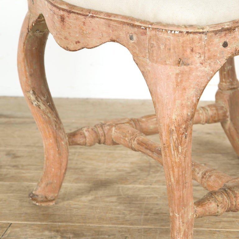 18th Century and Earlier Pair of Swedish Rococo Chairs For Sale