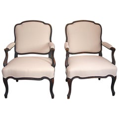 Pair of Swedish Rococo-Style Armchairs