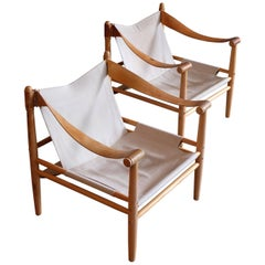 Pair of Swedish Safari Chairs by Gärsnäs, 1960s