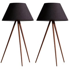 Pair of Swedish Table/Floor Lamps, 1950s