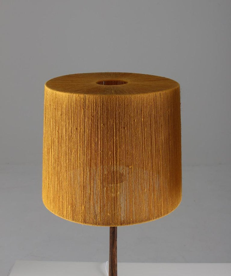 Pair of Swedish Table Lamps in Rosewood and Glass by Stilarmatur Tranås In Good Condition For Sale In Karlstad, SE
