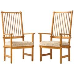 Pair of Swedish Yngve Ekström Chairs, circa 1950s
