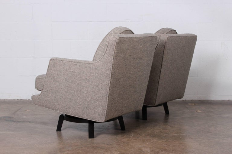 Pair of Swivel Chairs by Edward Wormley for Dunbar 2