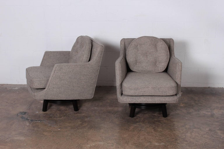 Pair of Swivel Chairs by Edward Wormley for Dunbar 3