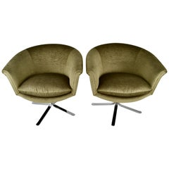 Pair of Swivel Chairs by Nicos Zographos