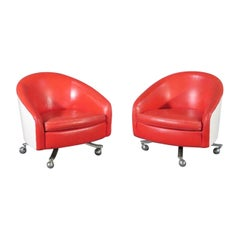 Pair of Swivel Chairs by Thayer Coggin