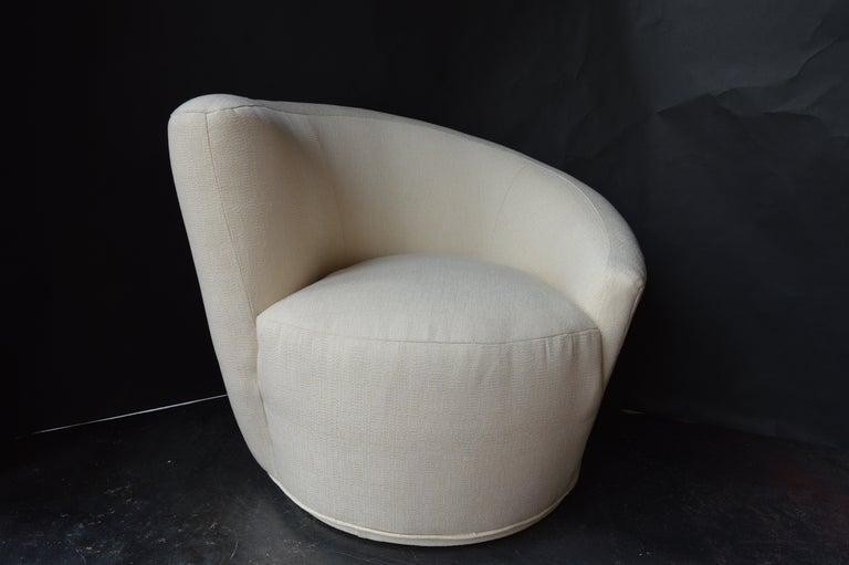 Mid-20th Century Pair of Swivel Chairs by Vladimir Kagan