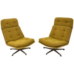 Pair of Swivel Chairs Designed by Gerald Neusser for Úp Závody, 1970s