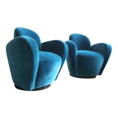 Pair of Swivel Lounge Chairs by Vladimir Kagan for Directional
