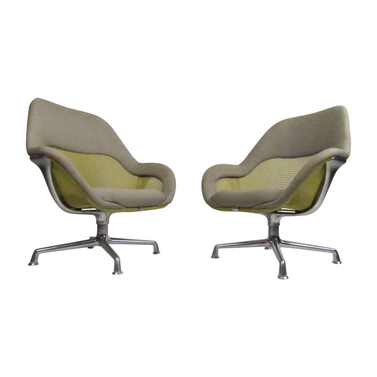 Pair of Swiveling Conference Chairs by Coalesse For Sale