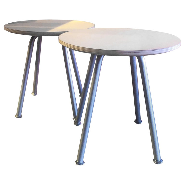 """Pair of """"Swoop"""" Tables / Stools by Brian Kane for Herman Miller For Sale"""