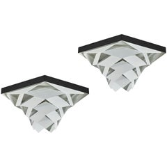 "Pair of ""Symfoni"" Flush Mount Ceiling Lights by Preben Dahl for Hans Følsgaard"